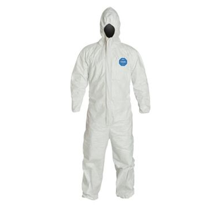 TYVEK HOODED COVERALL WITH ELASTIC WRIST