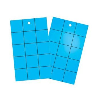 PLASTIC DOUBLE SIDED STCKY CARDS