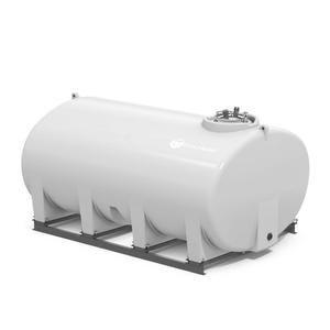 150 GALLON SUMP BOTTOM WHITE TANK WITH FRAME THD00150K